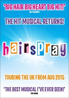 The international smash hit Hairspray embarked on a major UK tour in 2015/16. This big, bold and beautiful musical comedy will began its UK tour at Leicester's Curve theatre on 9 September 2015 and will then toured to 29 venues across the UK, including a Christmas residency at Birmingham Alexandra Theatre in December 2015.