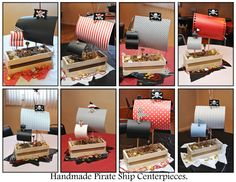 Pirate Birthday Party / First Birthday / Children / Table Centerpieces
