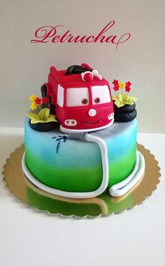 fire car cake