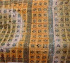Vintage Saree Indian Fabric 5 Yard Pure Silk Printed Tussar Khadi Heavy Sari  #Unbranded