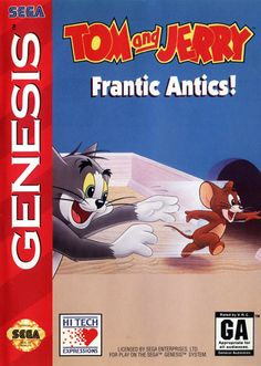 Tom and Jerry frantic antics for Sega Genesis