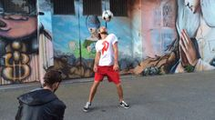 Watch out! This is only the making of with Camill Hauser - professional freestyler from www. The full HD Video will be available soon :) Football Tricks, Full Hd Video, Free Kick, Kicks, Watch, Clock, Bracelet Watch, Clocks