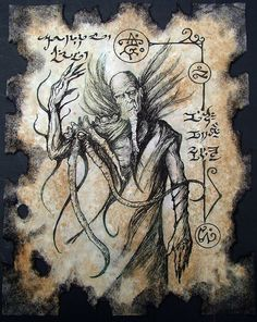 Cthulhu Necronomicon fragment SORCERER of BAL SAGOTH  by zarono, $10.00