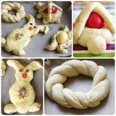 masas - mona conejo Starters, Happy Easter, Doughnut, Tapas, Snacks, Cookies, Cake, Desserts, Egg