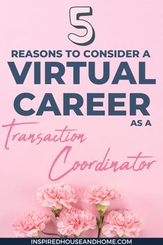 You might be wondering whether a virtual career as a real estate transaction coordinator is right for you. There's lots to consider! Check out the 5 reasons to help you learn whether a virtual career as a TC is for you. #realestate #virtualcareer #jobfromhome #virtualassistanttraining #TCTraining Virtual Assistant, Assistant Jobs, Transaction Coordinator, Choosing A Career, Creative Jobs, Online Business, Business Tips, Work From Home Tips, Online Entrepreneur