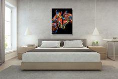 #artcollectibles #prints #digitalprints Colorful Wall Art, Unique Wall Art, Modern Wall Art, Wall Prints, Canvas Art Prints, Painting Prints, Large Artwork, Large Painting, Bohemian Wall Decor