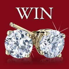 Win a pair of 1 Carat Diamond Earrings Retail Value $3000