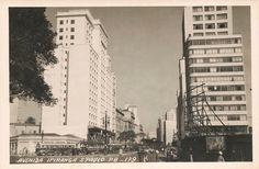 Ipiranga Avenue in the early 50´s - Sao Paulo / Brazil