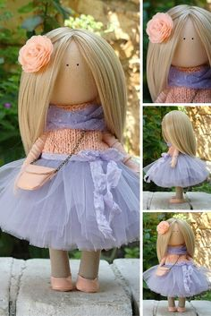 Rag doll Soft doll Tilda doll Fabric doll Handmade doll Art doll Textile doll…