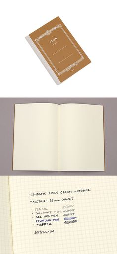 This notebook contains Tsubame's high quality fools paper. The paper is made with great care and is easy to write on, resists feathering and bleed-through, and is neither too slippery nor too rough.