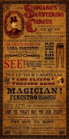 e29d361caf69e05ff2517eb0d7fa0d47 Old Circus, Circus Art, Night Circus, Circus Theme, Carnival Posters, Vintage Circus Posters, Vintage Carnival, Vintage Circus Performers, Steampunk Circus