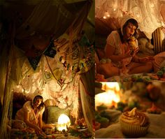 there's something very magical about a blanket fort