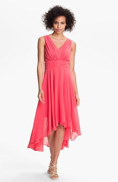 Great dress but would have loved it even more if the waist were at natural waist.   Ivy & Blu for Maggy Boutique High/Low Chiffon Dress available at #Nordstrom