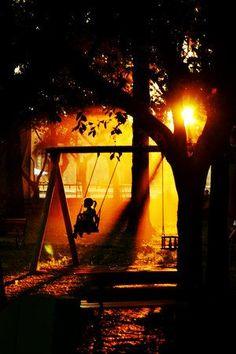 ...on a swing