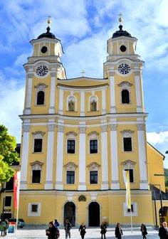 St. Michael Church in Mondsee, Austria, was where the wedding scene in the Sound of Music was filmed. @austriatravel #SOM50