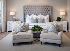 Modern Master Suite ben moore violet pearl - modern master bedroom paint colors ideas