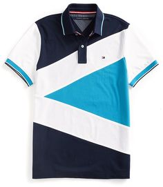 Shop for Final Sale-Custom Fit Pieced Polo by Tommy Hilfiger at ShopStyle. Polo Vest, Polo Rugby Shirt, Polo T Shirts, Golf Shirts, Polo Shirt Design, Shirt Print Design, Shirt Designs, Tommy Hilfiger, Camisa Polo