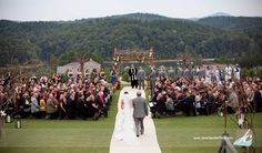 Spring wedding on the event lawn at The Reserve at Lake Keowee in South Carolina