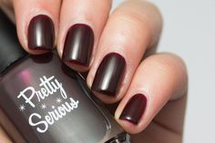 Pretty Serious 'Pinup Perfection' Collection: Love Biteis a vampy blackened red jelly.