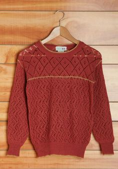 Vintage Snuggly Studying Sweater, #ModCloth
