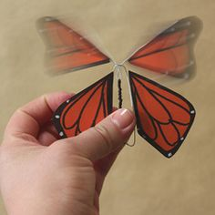 Make a wind-up paper butterfly toy with this tutorial from You are my Fave.