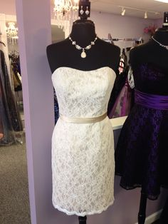 Love this new lace bridesmaid with a pencil skirt!