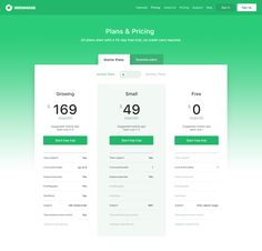 Greenhouse - Pricing designed by Pijus Aleksandravičius. Connect with them on Dribbble; the global community for designers and creative professionals. Web Design, Chart Design, Pricing Table, Price Chart, Apps, Business Planning, Web Development, Infographic, App