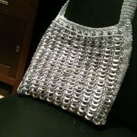 Evening bag... This was my very first attempt at pop tab crochet a couple of years ago.