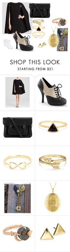 """""""Fancy Hogwarts Teacher"""" by mocking-birdie on Polyvore featuring Adrianna Papell, The Cambridge Satchel Company, Bling Jewelry, Stephen Webster, Lauren Ralph Lauren, Hue and feelinmyself"""