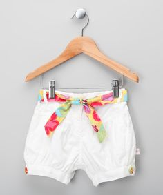 Take a look at this White Tropical Shorts - Infant on zulily today!