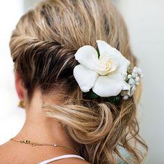 Bohemian Bridal Hairstyle Idea