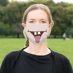Funny Mouth Cloth Face Mask - tap, personalize, buy right now! #ClothFaceMask  #covid19 #covid-19 #coronavirus #funny #humor
