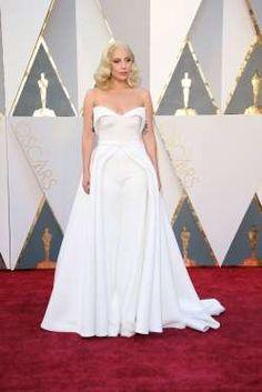 Lady Gaga in Brandon Maxwell   Oscars 2016