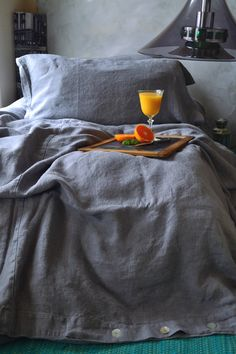 Pre-order only. Dove Grey by HouseOfBalticLinen Linen Duvet, Linen Pillows, Bed Linens, Bed Duvet Covers, Quilt Cover, Bed Sheets, Ramen, Pure Products, Interior