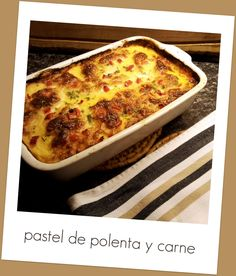 From Argentina to the Netherlands, for Love!: Winter food: pastel de polenta y carne (beef and polenta pie)