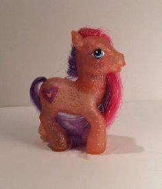 My Little Pony Tangerine Twinkle Orange Clear Glitter Heart Sparkles Horse G3  | eBay
