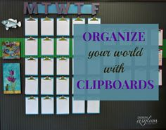 Organize your Schedule with a Clipboard Wall Calendar - Design Asylum Blog | by Kellie Smith