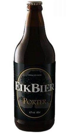 Cerveja EikBier Porter, estilo Porter, produzida por EikBier Cerveja Artesanal, Brasil. 6% ABV de álcool.