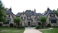 Plan Grand French Country Chateau - Home - Luxury House Plans, Dream House Plans, House Floor Plans, My Dream Home, Castle House Plans, Luxury Houses, Luxury Apartments, Dream Homes, French Country Bedrooms