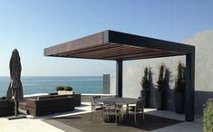 Add Style to Your Pergola Modern Pergola Designs, Backyard Patio Designs, Diy Patio, Backyard Landscaping, Pool Shade, Patio Shade, Outdoor Pergola, Pergola Plans, Rooftop Terrace Design