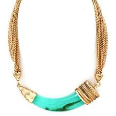 Horn Necklace - Turquoise