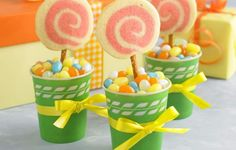 Grow a cute garden of lollipops that's perfect for adding a bit of colorful fun to a party for children—or grown-ups!