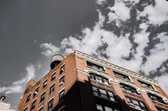 Looking up in SoHo...the sky and its relation to the building reminded me of the film Rumble Fish #lookup #soho #nyc #bridgetbarnesphotography #architecture #beautifulworld #wanderlust #travel #travelgram #traveling #travelling #travelingram #traveler #traveller #gratitude #lifeimitatesart #sky