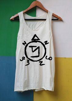 Angel Banishing Sigil Shirt Supernatural Tattoo Shirts Tank Top TShirt Top Softly Women – size S M L on Etsy, $14.99