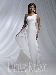 Elegant One Shoulder Wedding Dress - 11128