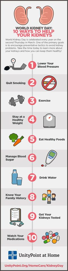Celebrate World Kidney Day by learning how to prevent kidney disease, kidney infections and kidney stones. Your kidneys can be healthy at any age with this infographic!