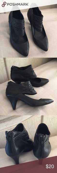Black dress boots size 7 3 4