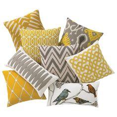 DwellStudio Home Chevron Ash Pillow