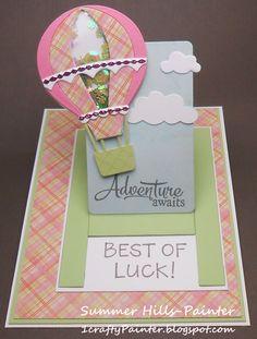 Hot Air Balloon Shaker Card
