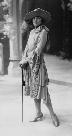 Paris Fashion - 1926 - Dress in crepe de chine, embroidered with pearls.